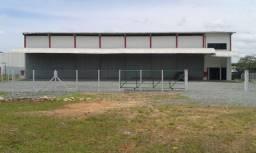 Aluga-se Galpão (1.306m²) Terreno (10.000 m²) frente a BR 101 Km 32,320 em Joinville