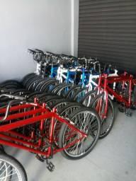 Bicicleta aro 26 MTB, cubo roletrado e raios duplos