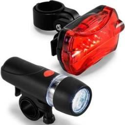 Kit Farol e Lanterna Led para Bicicleta