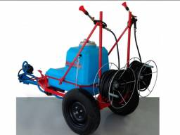 Pulverizador para micro trator com roletes