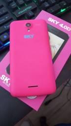 Presenteie! Celular sky rosa novo na caixa