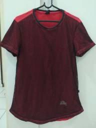 Camiseta Masculina Vermelha com Telinha