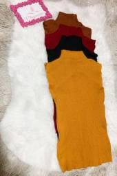 Blusa tricô (preta,marrom,vermelhar amarela)