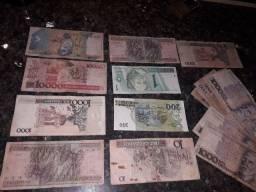 Vendo cedulas antigas e moedas