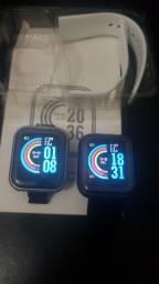 Smart watch D20, marca Paços, medidor de pulso e mostra msg.