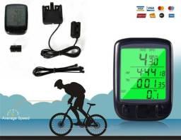 Kit Ciclo Computador Bicicleta, Velocímetro Bike, com fio, Temperatura e outros