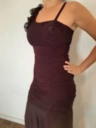 Vestido de festa vinho /bordo
