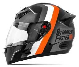 Capacete Moto Integral Fosco Etceter Stronger Faster tamanho 60