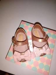 Mini melissa, sandália para bebê