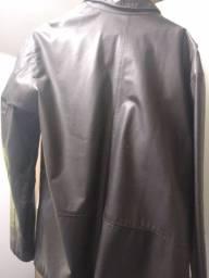 Jaqueta de couro masculino tamanho g nova barbada