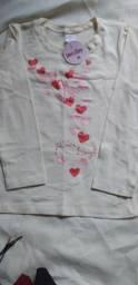 Blusa de moletom menina
