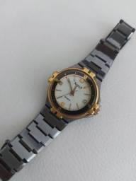 Relógio original Natan Titânio/ouro/lente safira