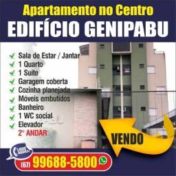 Vendo apartamento no centro com elevador Edifício Genipabu