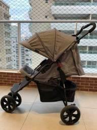 Carrinho de bebe passeio ABC Design com proteção UV + Capa de chuva
