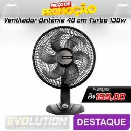 Ventilador Mallory Olimpo TS 6 Pás 40cm - Preto Promoção Aproveite