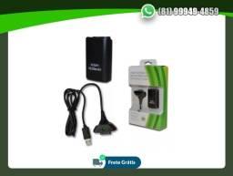 Título do anúncio: Bateria Para Controle Xbox 360 Com Cabo E Carregador Preto