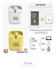 Título do anúncio: Fone Bluetooth novo. Branco ou amarelo. 60R$.
