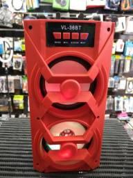 Caixa de som completa 30 centimetros alt bluetooth rádio pendrave 2 alto falante