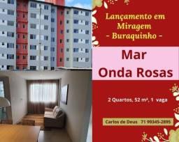 Oportunidade: Lançamento Mar Onda Rosas, 2 quartos, 52 m², 1 vaga, Miragem , Buraquinho