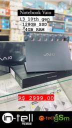 Notebook Vaio 128gb SSD i3 4gb RAM