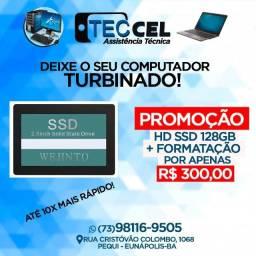 Promoção Hd Ssd 128Gb+Formatação por apernas R$ 300,00 - Teccel Informática