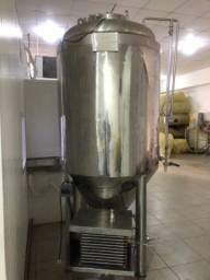 Tanque de carbonatar cerveja com refrigeração