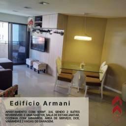 Título do anúncio: Edf Armani, 3/4 sendo todos suítes, nascente e área de lazer completa