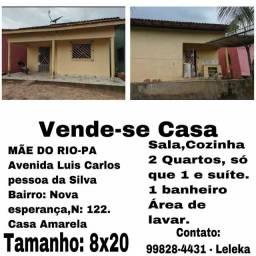 Vende se uma casa em Mãe do Rio / Pará
