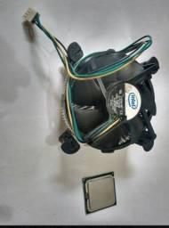 processador core intel 2 duo 6300 + dissipador de calor<br>Soquete 775<br>