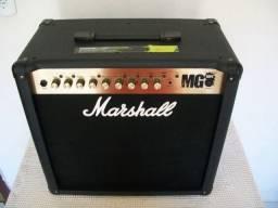 Título do anúncio: Cubo Para Guitarra Marshall Mg50fx, Pouquíssimo Uso.