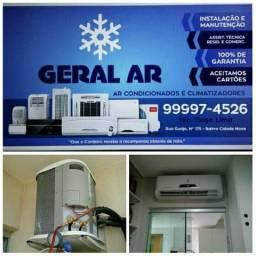 Instalações e manutenção de ar condicionado