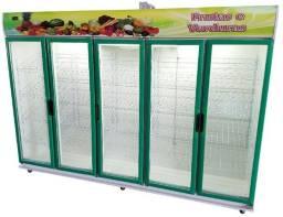Balcão Refrigerado Expositor Frutas e Verduras 5 portas