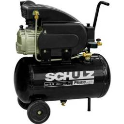 Compressor Pratic Air 8,5 Pés 25 Litros 110v Schulz