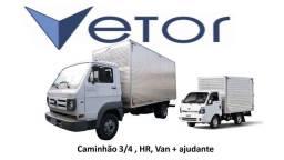 Agregamos caminhão 3/4, HR, Van e semelhantes com ajudante