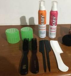 Mousse Hidratante  para penteado - kit penteado com escovas, pentes