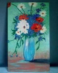 Vaso de Flores - Tela