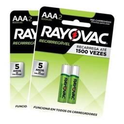 Título do anúncio: Pilha  recarregável AAA Rayovac ORIGINAL