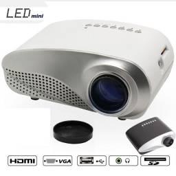 Entrega Gratuita Mini LED Projetor HD Com Controle Remoto Cabo de Audio 1080p RD-802 3977