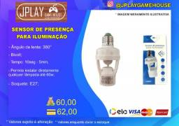 Sensor de presença com bocal para lampada