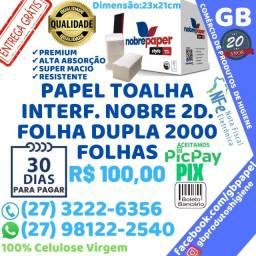 Título do anúncio: Papel Toalha Interfolha Nobre Premiüm Folha Dupla Cx 2.000 Folhas Entrega Grátis NF