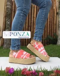 Sandália Ponza nova marca de calçados tam. 36