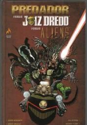 olx228 Predador Versus Juiz Dredd Versus Aliens capa dura 178 pg