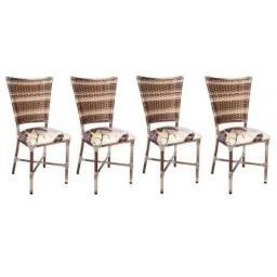 Título do anúncio: Kit 4 Cadeiras De Cozinha Em Junco Social Elegância - Disponivel em 2 Cores
