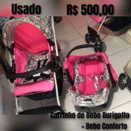 Carrinho + bebe Conforto Burigotto Crian