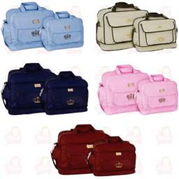 Título do anúncio: Bolsa Maternidade - Kit com 2 - Mave Baby Djon - Várias Cores