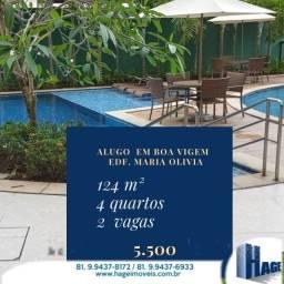 Alugo Maria Olivia 124m²/4quartos/2vagas/ semi-mobilhado