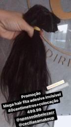 Mega hair fita adesiva invisível