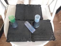 Placas para filtro biológico de fundo