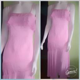Vestido rosa chiclete para eventos