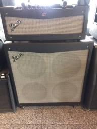 Fender Cabeçote + Gabinete 412 Guitarra Mustang V